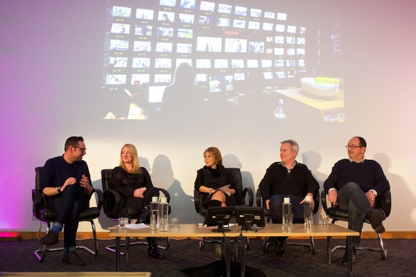 The panel discuss fixed-rig shows at the RTS early evening event