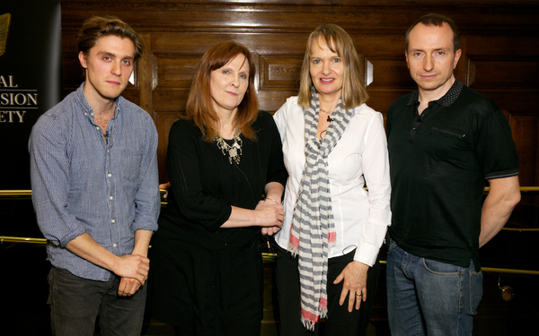 Jack Farthing, Debbie Horsfield, Anne Dudley and Damien Timmins were on the panel of Poldark: Anatomy of a Hit (Credit: Paul Hampartsoumian)