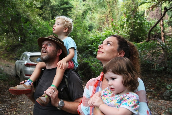 Gaia Vince with her husband Nick and their children Kipp and Juno (Credit: Channel 4)