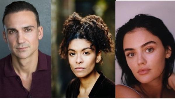 Henry Lloyd-Hughes, Thalissa Teixeira and Lucy Hale (credit: UKTV)