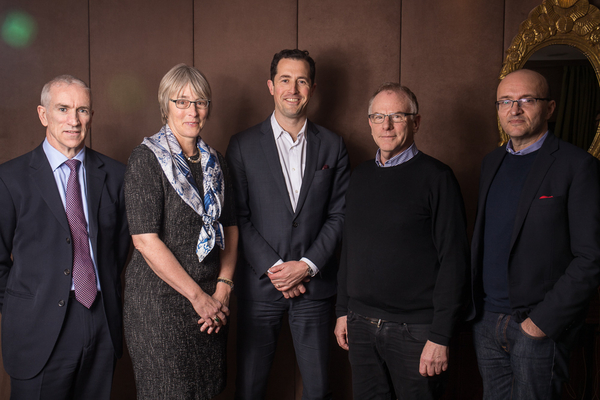 From left: Mike Darcey, Kate Bulkley, Matthew Garrahan, Mathew Horsman and Tim Hincks (Credit: RTS/Paul Hampartsoumian)