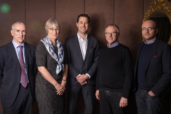 From left: Mike Darcey, Kate Bulkley, Matthew Garrahan, Mathew Horsman and Tim Hincks (Credit: RTS/Paul Hampartsoumian)