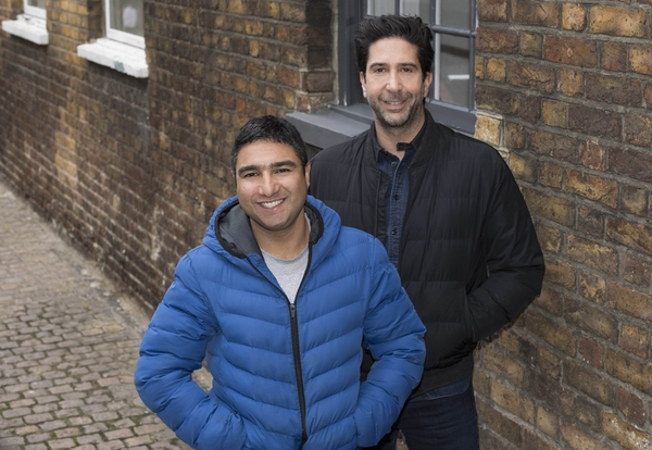 (David Schwimmer and Nick Mohammed Credit: Sky)