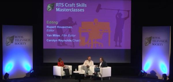 L-R: Interviewer Carolyn Reynolds, Yan Miles and Rupert Houseman