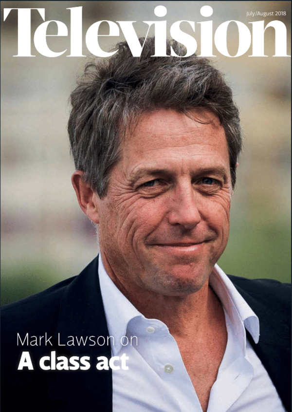 Hugh Grant on July/August Television magazine