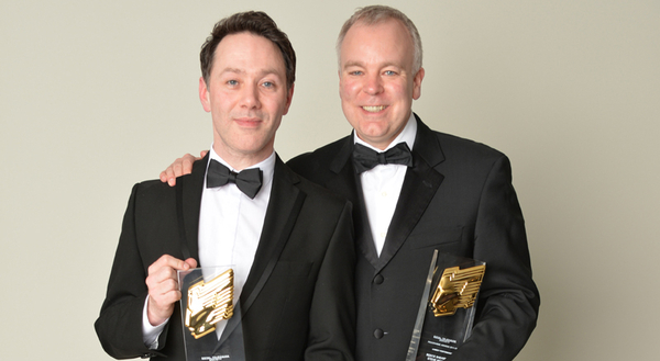 Reece Shearsmith and Steve Pemberton won at this year's RTS Programme Awards (Credit: Richard Kendal)