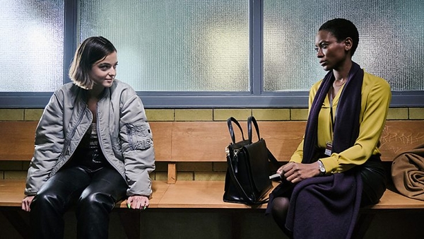 Celine Buckens and Tracy Ifeachor in Showtrial (credit: BBC)