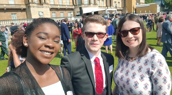 RTS Bursary Students at Buckingham Palace for the Prince of Wales' 70th Birthday