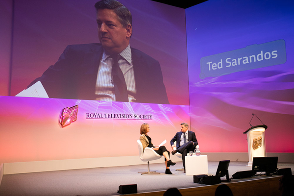 Ted Sarandos was interviewed by Francine Stock at the RTS London Conference (Credit: Paul Hampartsoumian)