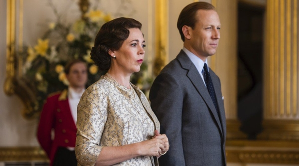 Olivia Colman and Tobias Menzies (Credit: Netflix)