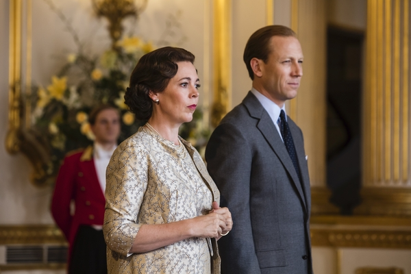 Olivia Coleman and Tobias Mezies in The Crown (Credit: Netflix/Sophie Mutevelian)