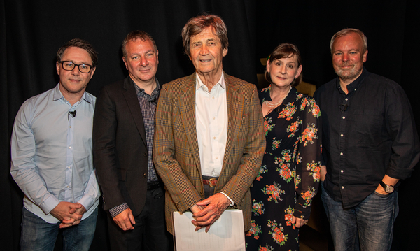 Reece Shearsmith, Jed Mercurio, Melvyn Bragg (Chair), Heidi Thomas and Steve Pemberton (Credit: Paul Hampartsoumian)