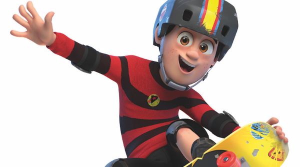 Dennis from Dennis and Gnasher Unleashed (Credit: Beano Studios)
