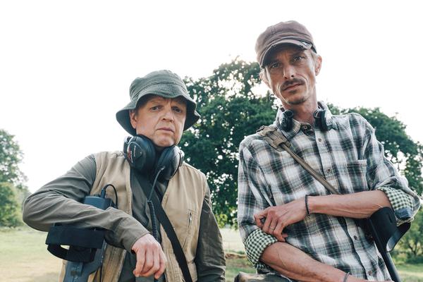 Toby Jones and Mackenzie Crook star in Detectorists (Credit: BBC)