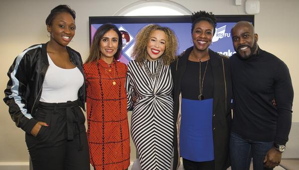Panellists Remel London, Anita Rani, Ria Hebden, Marverine Cole and Melvin Odoom (Credit: RTS/Paul Hampartsoumian)