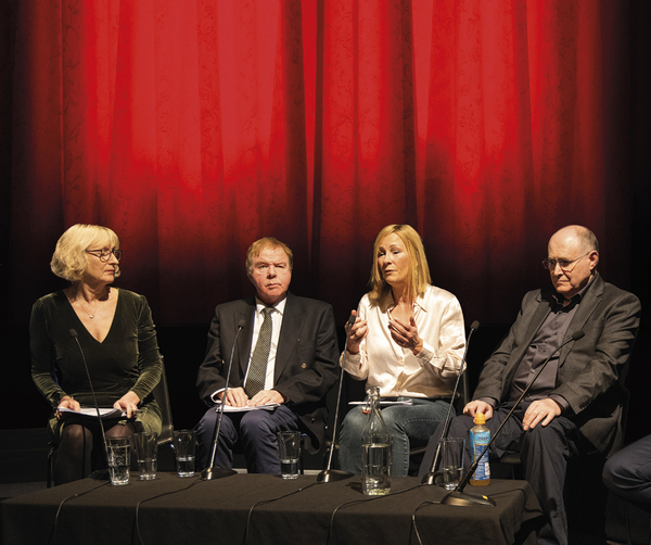 From left: Karen Robinson, Dr Julian Boon, Dr Samantha Lundrigan and Prof Paul Britton (Credit: Paul Hampartsoumian)