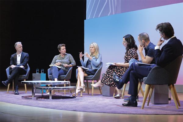 From left: Ben McOwen Wilson, Vikki Cook, Deborah Turness, Aasmah Mir, Martin Lewis and Ed Williams (Credit: RTS/Richard Kendal)