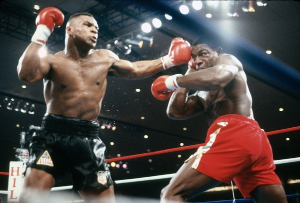 Mike Tyson and Frank Bruno (Credit:Sky)