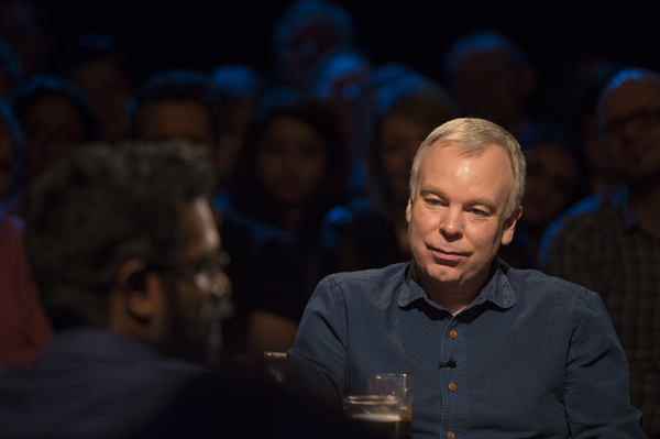 Steve Pemberton appearing on UKTV's Alan Davies: As Yet Untitled (Credit: UKTV)