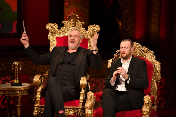 Greg Davies and Alex Horne on Taskmaster (Credit: UKTV/Avalon)
