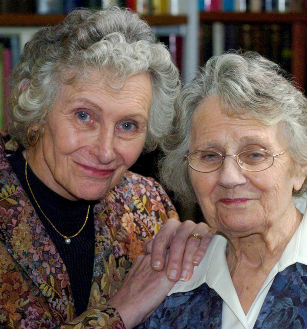 Bernadette Rogers (left) with her civil partner Joyce Rogers (Credit: PA)