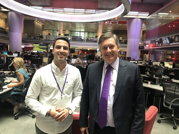 Theo Pegkas and Simon McCoy (Credit: BBC)