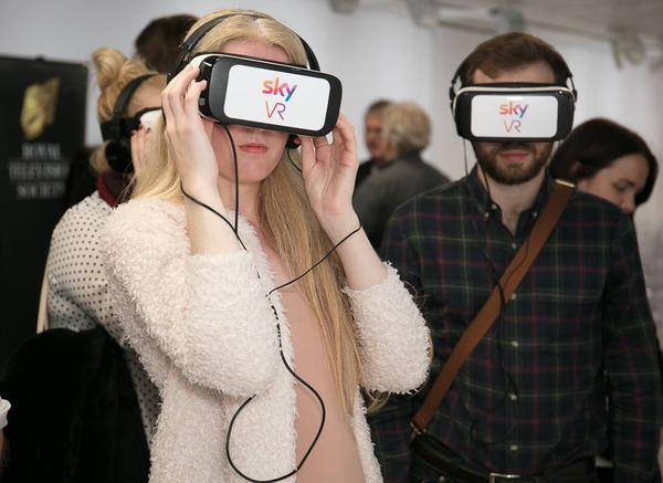 Guests enjoy virtual reality experiences at the event (Credit: Paul Hampartsoumian)