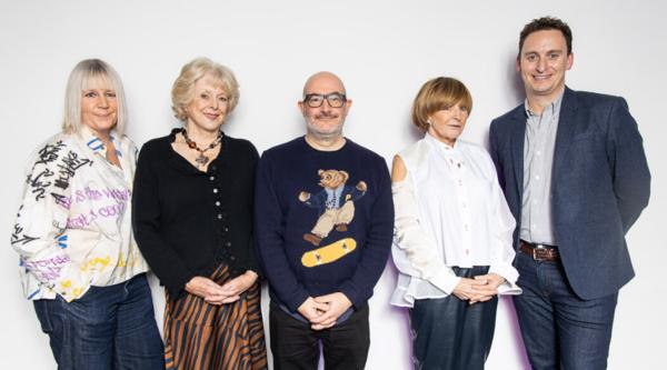 Jo Street, Judith Keppel, Boyd Hilton, Anne Robinson and James Fox (Credit: Paul Hampartsoumian)