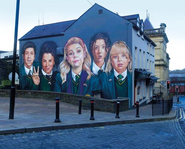 Derry Girls Mural (Credit: Channel 4)