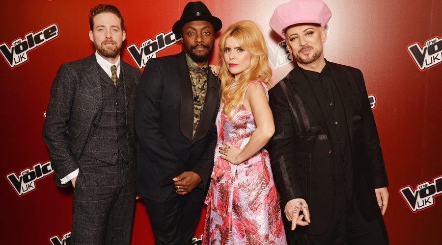 The Voice UK, 2016, judges, Boy George, Paloma Faith, Ricky Wilson, Will.i.am, singers, talent, entertainment, television, BBC, ITV,