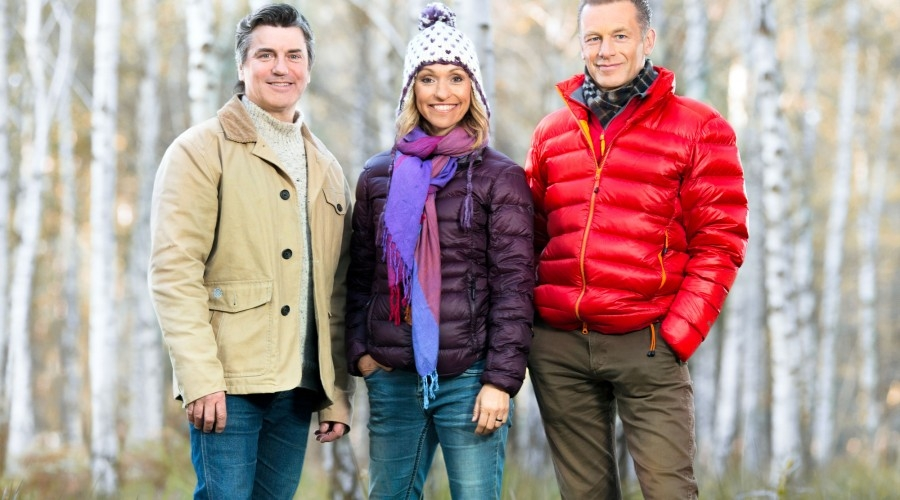 Martin Hughes-Games, Michaela Strachan, Chris Packham, the presenters of Winterwatch (pictured) and Springwatch (Credit: BBC)
