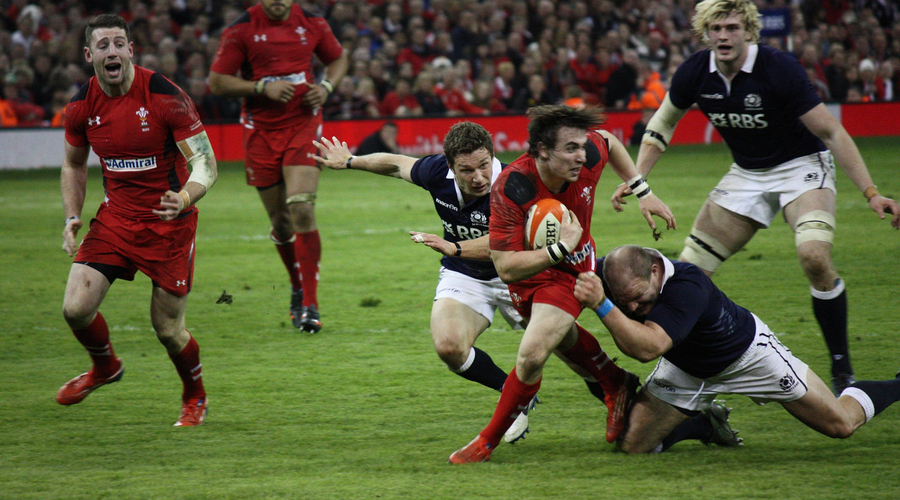 Wales against Scotland, rugby, six nations, television, sport, BBC,