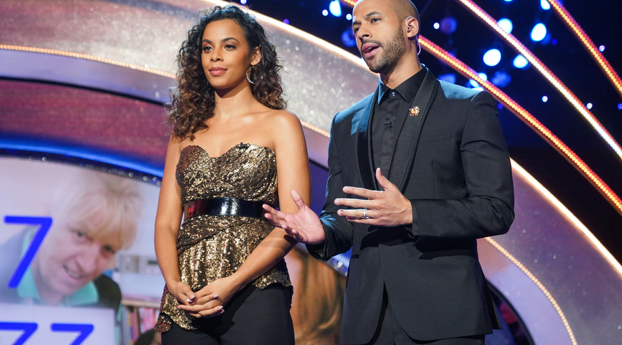 Rochelle and Marvin Humes presenting Children In Need (Credit: BBC)