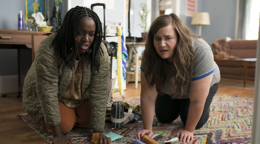 Lolly Adefope and Aidy Bryant in Shrill (credit: BBC)