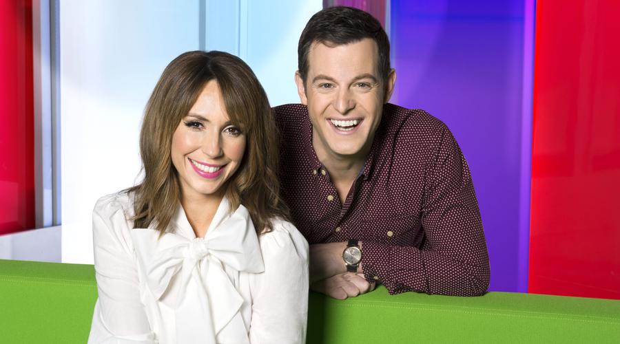 Alex Jones and Matt Baker in The One Show (Credit: BBC/Ray Burmiston)