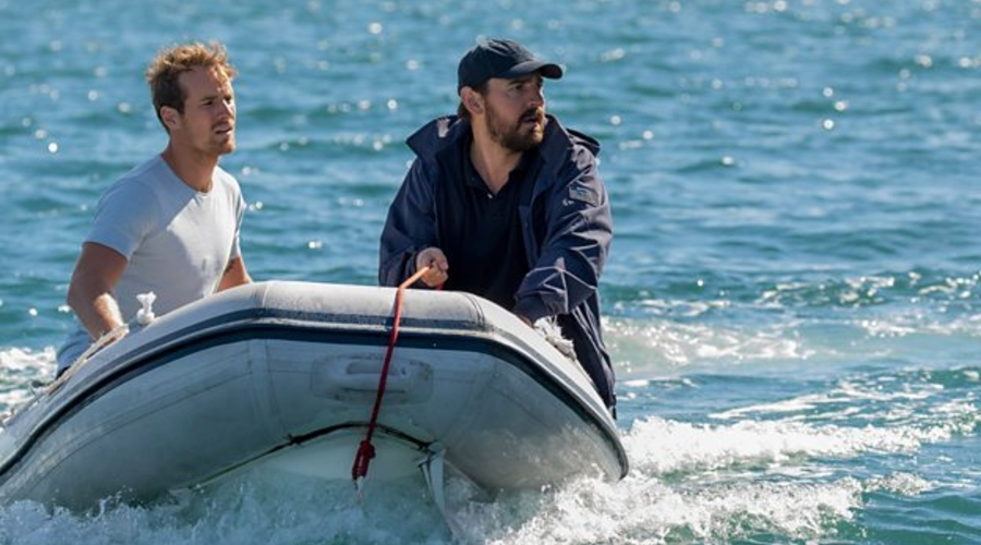 Ryan Gallagher (Ewen Leslie) and Damien Pascoe (Joel Jackson) in Safe Harbour (Credit: BBC/Hulu)