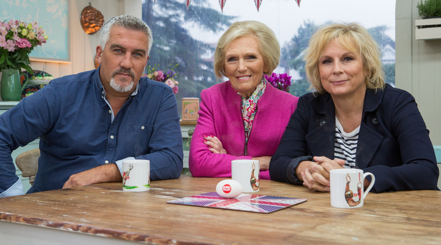 BBC, Bake Off, Sports relief, Mary Berry, Paul Hollywood, Jennifer Saunders