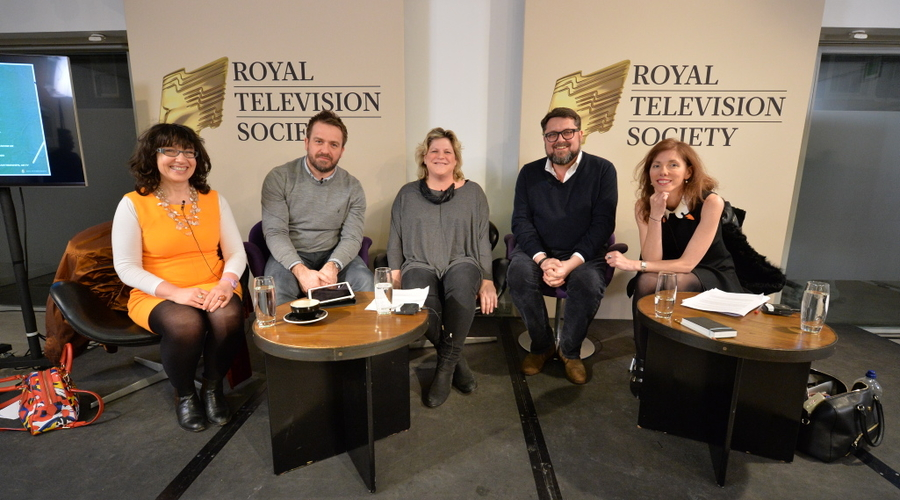 """""""The panel (from left to right): Sue Unerman, Jon Lewis, Sally Quick, John Nolan and Claire Beale"""""""