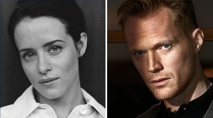 Claire Foy and Paul Bettany (credit: BBC)