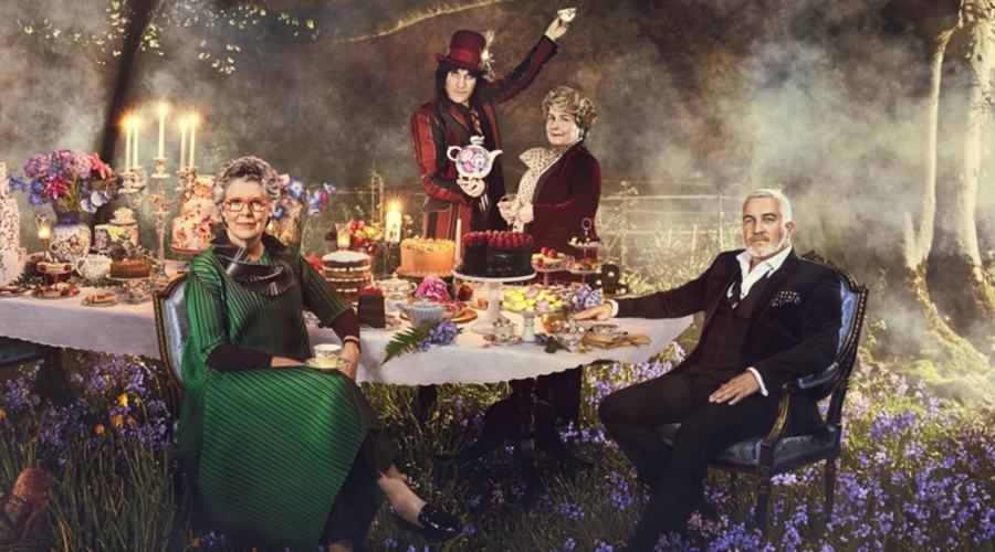 Paul Hollywood, Prue Leith, Noel Fielding and Sandi Toksvig (Credit: Channel 4)