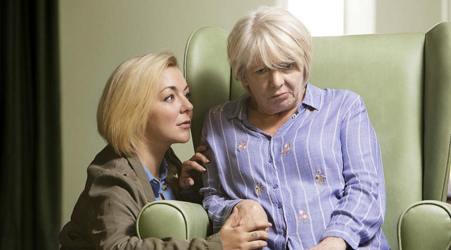 Jenny (Sheridan Smith) and Mary (Alison Steadman in Care (Credit: BBC/LA Productions/Dan Prince)