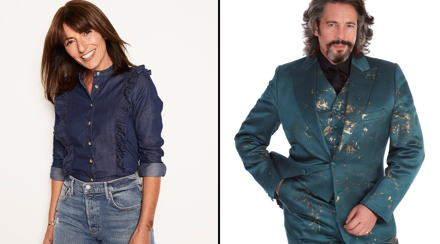 Davina McCall and Laurence Llewelyn-Bowen (credit: Channel 4)