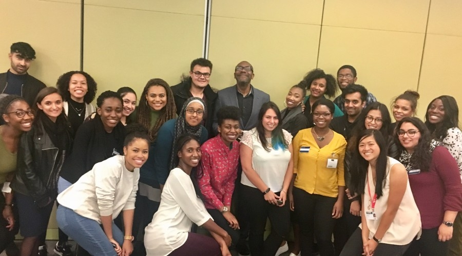Lenny Henry with some of the 2016 Creative Access interns (Credit: Creative Access)
