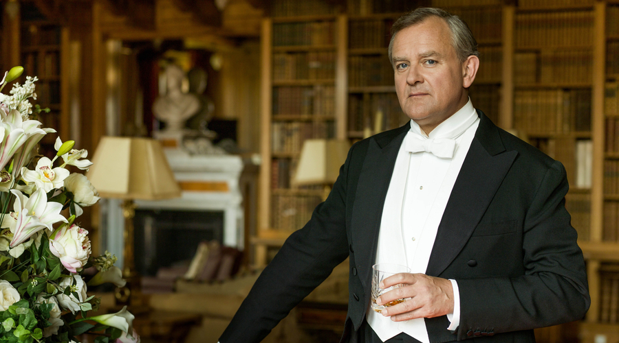Hugh Bonneville as Lord Grantham in the final episode of Downton Abbey