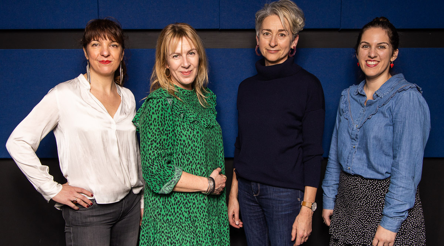Left to right: Louise Hooper, Kate Bartlett, Sarah Williams and Emma Bullimore (Credit: Paul Hampartsoumian)
