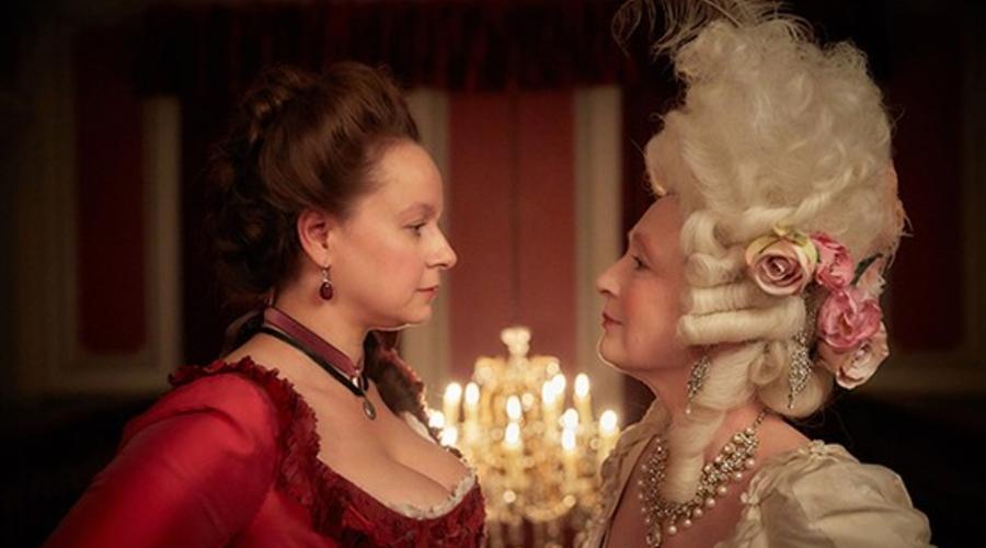 Samantha Morton and Lesley Manville star in Harlots (Credit: Amazon)