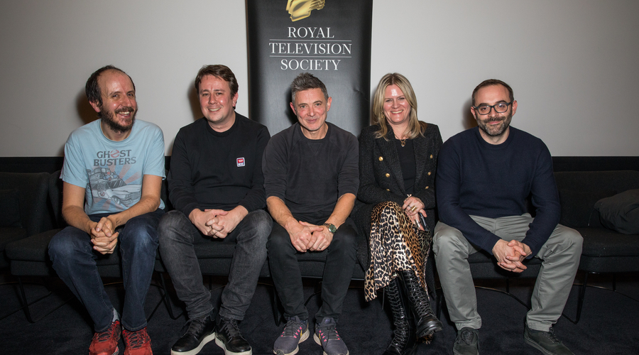 Jack Thorne, Dan McCulloch, Joel Collins, Jane Tranter and Russell Dodgson (Credit: Phil Lewis)