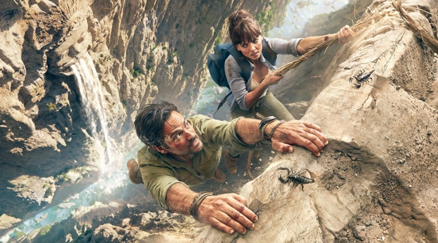 Hooten and the Lady confront hair-raising obstacles as they travel the globe in search of hidden treasures (Credit: Sky)
