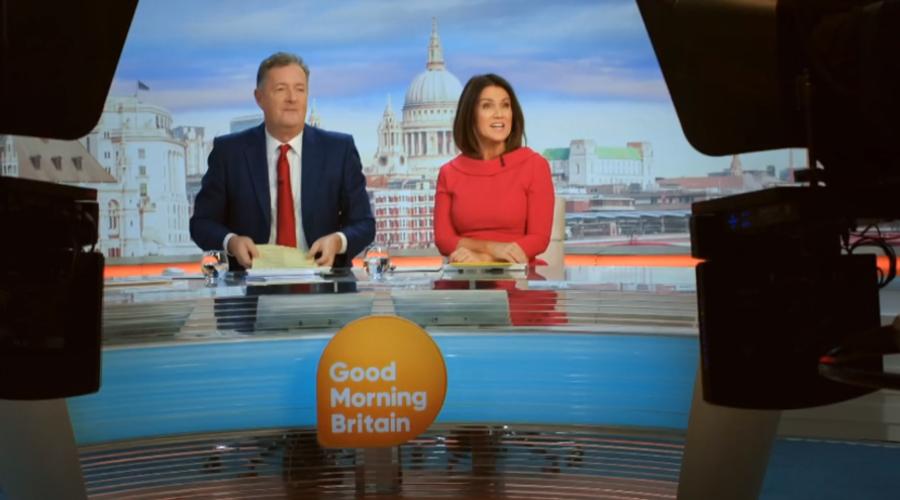 Piers Morgan and Susana Reid (Credit: ITV)