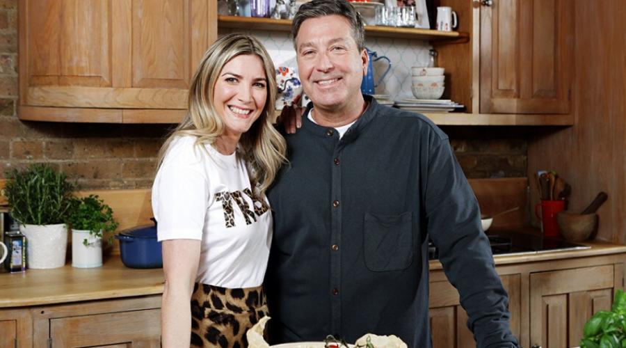 Lisa Faulkner and John Torode (Credit: ITV)